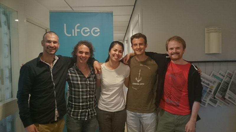 Från vänster: Christoffer Andersson (jag), Patrik Jutterström, Hanna Johansson, Henning Hall, Niklas Wigertz