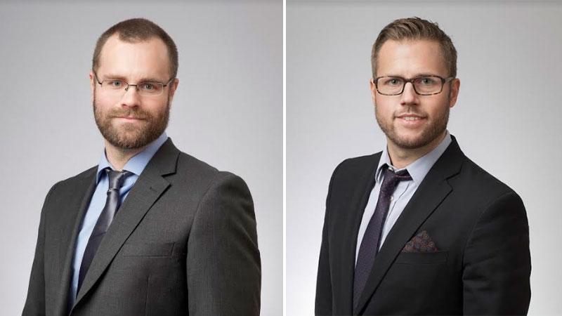Erik Wiger och Magnus Bodö, jurister på Skattebetalarnas förening