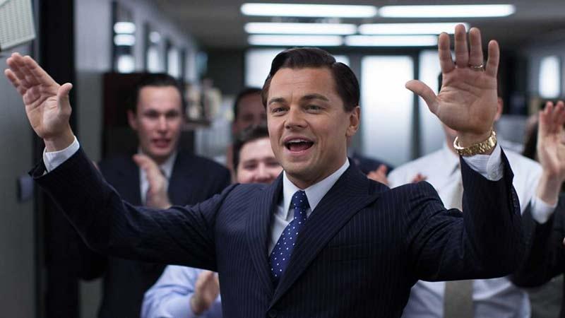 Leonardo DiCaprio i filmen The wolf of wall street