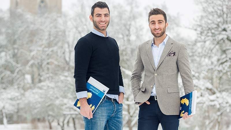 Entreprenörerna Sam och Andreas Issa. Foto: Kenny Jonsson, text av Nina Jansdotter