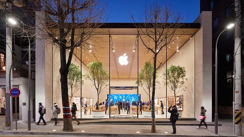 Apple-butik i Gangnam-området, Seoul i Sydkorea,