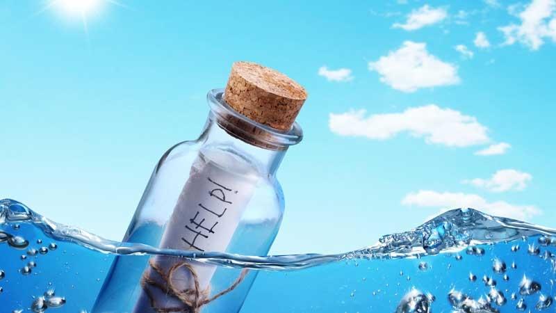 Flaskpost är ett sätt att kommunicera. Författad av Patrik Nilsson