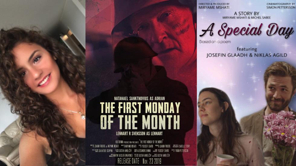 Foto på Miryame Mshati och omslag från två av hennes filmer