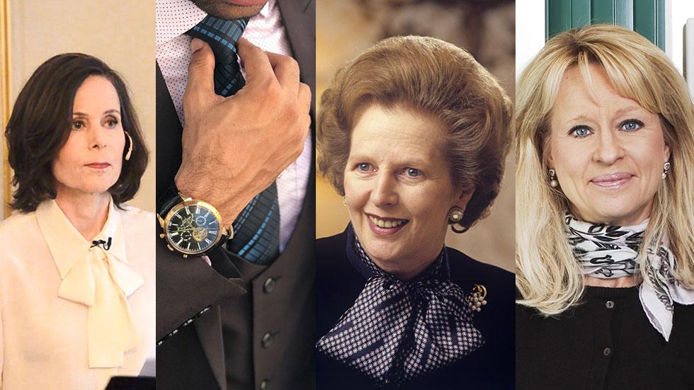 Tillknäppt: Power dressing och slips för att visa auktoritet