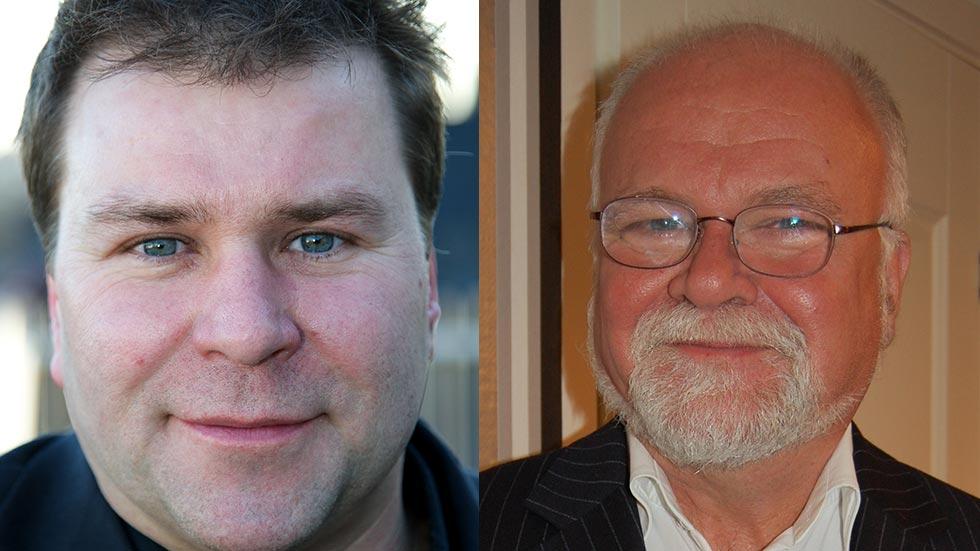 t.v. Stefan Lindström (fotograf Nicklas Mattsson), t.h. Hans-Olle Frummerin